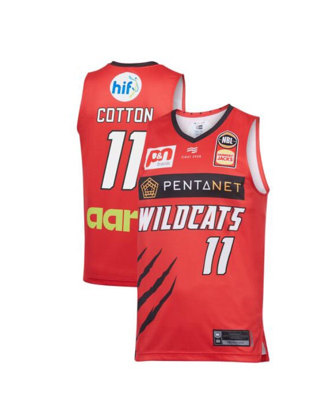 Perth Wildcats '19/20 Home Jersey Cotton