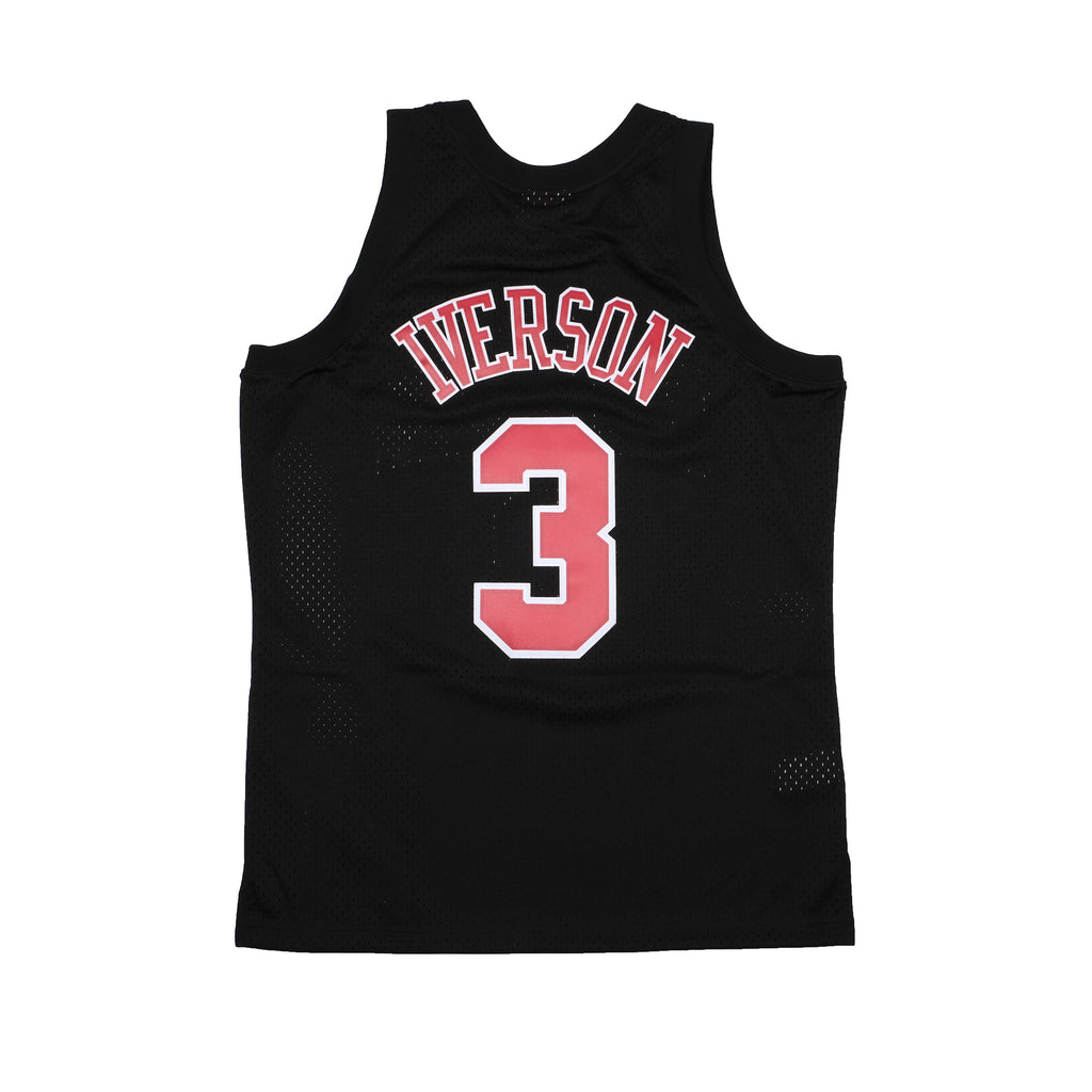 Allen Iverson Hardwood Classic Black Team Colour Jersey (76ers 96-97)
