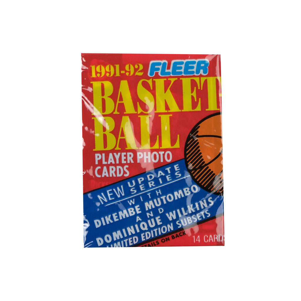 Fleer 1991/92 Basketball Cards (RED)