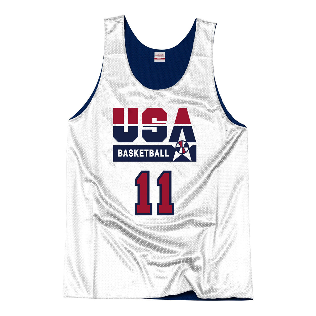 Team USA 1992 Reversible Practice Jersey Malone 11