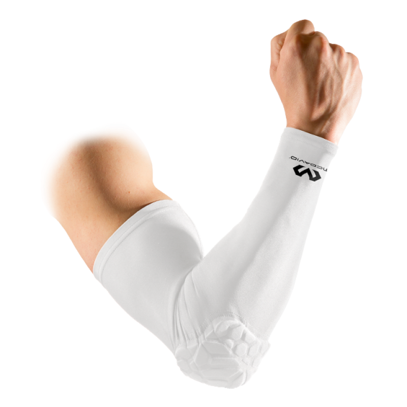McDavid Hex Shooter Arm Sleeve Single (White)