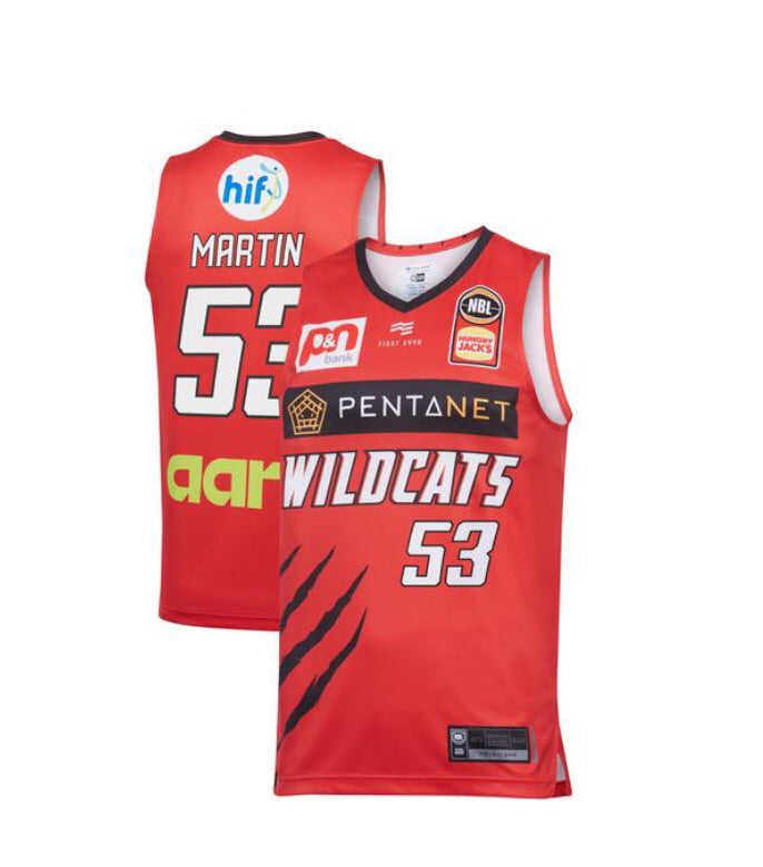 Perth Wildcats '19/20 Home Jersey Martin