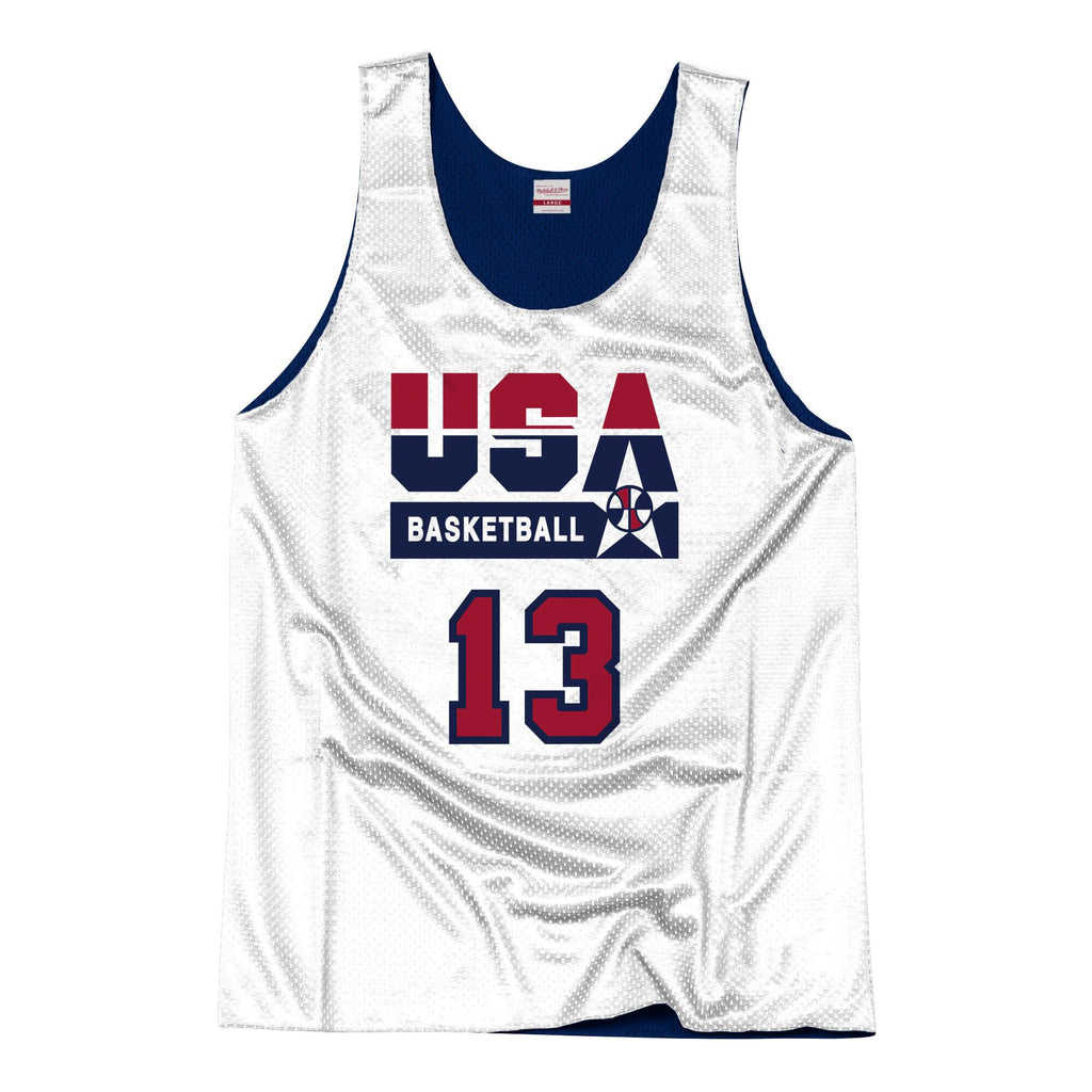 Team USA 1992 Reversible Practice Jersey Mullin 13