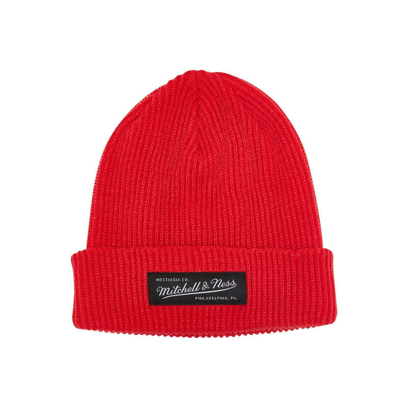 Copy of M&N Shallow Cuff Knit Beanie - Red
