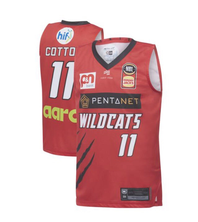 Perth Wildcats '19/20 Home Jersey Cotton YOUTH