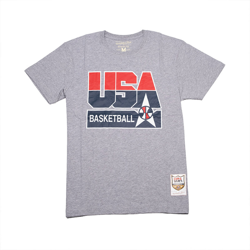 Team USA 1992 Basketball Logo SS Tee Grey