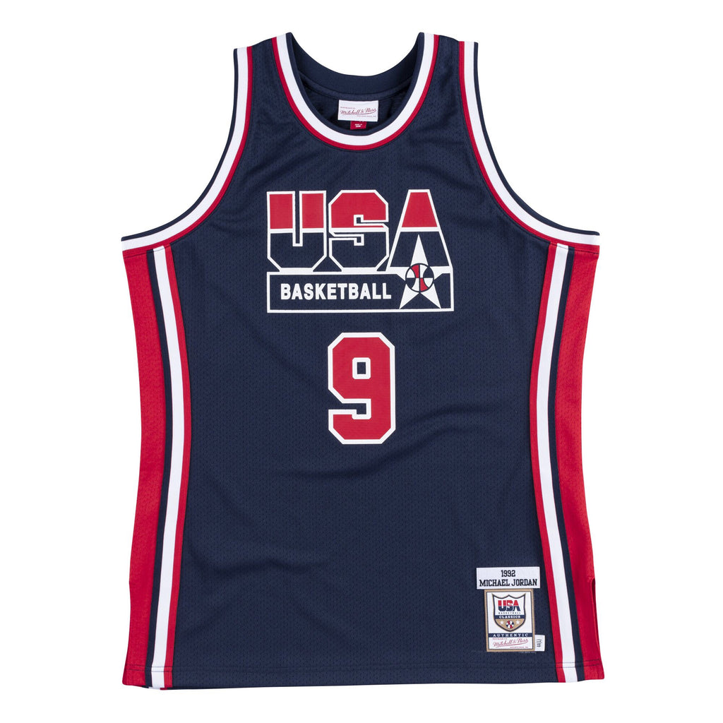 Team USA 1992 Authentic Jersey Jordan (Navy)