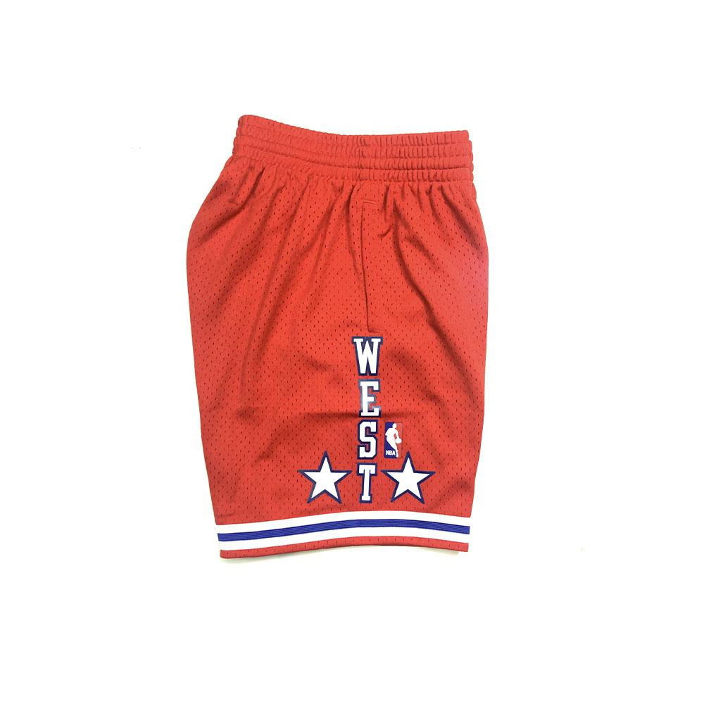 Hardwood Classic Swingman Western All Star Short 88 (Red)