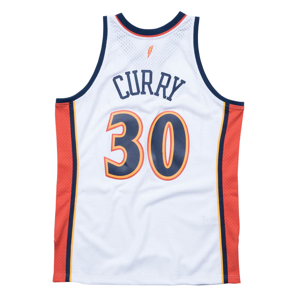 Steph Curry Hardwood Classic Jersey (09-10 Warriors White)