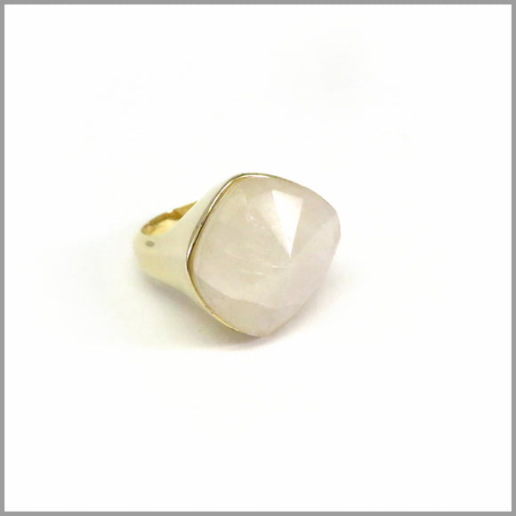 AD2.1 Moonstone Gold Plated Ring