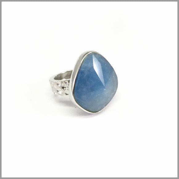 AD2.7 Aquamarine Silver Ring