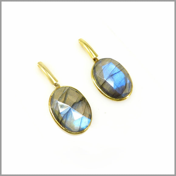 AD3.31 Labradorite Gold Plated Earrings
