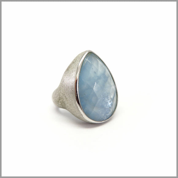 AD3.50 Aquamarine Silver Ring