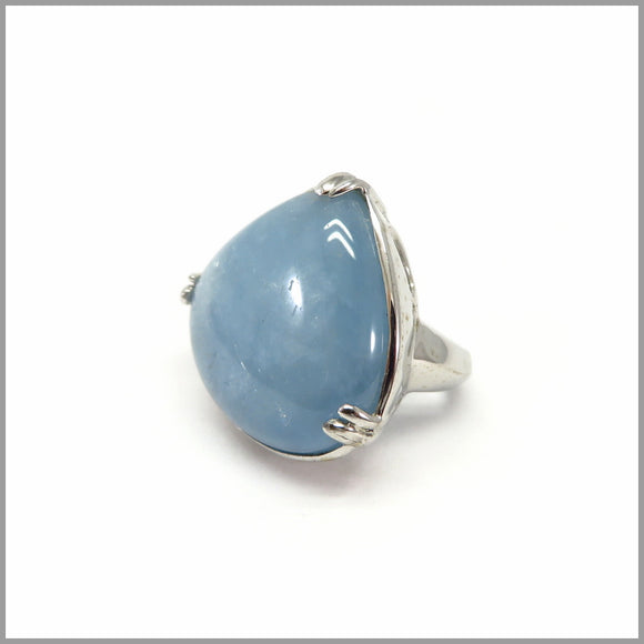 AD3.60 Aquamarine Silver Ring