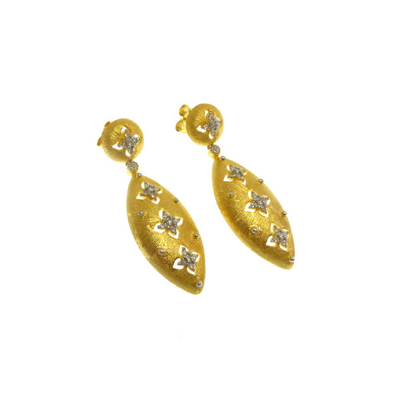 FM23.10 Russian Gold Spade Chandelier Earrings