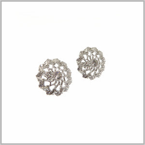 FM23.18 Pinwheel Cubic Zirconia Silver Earrings