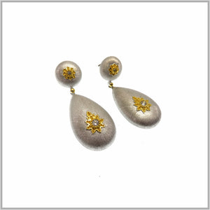 FM23.21 Russian Silver Drop Earrings