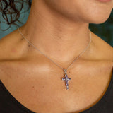 GJ6.6 Tanzanite Cross Pendant