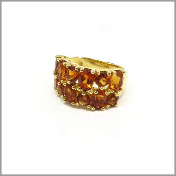 HG14.7 Madeira Citrine Gold Ring