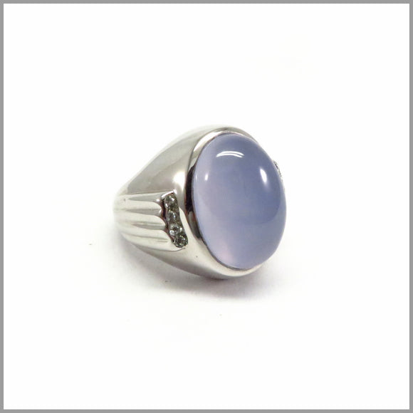 HG16.7 Chunky Chalcedony Ring
