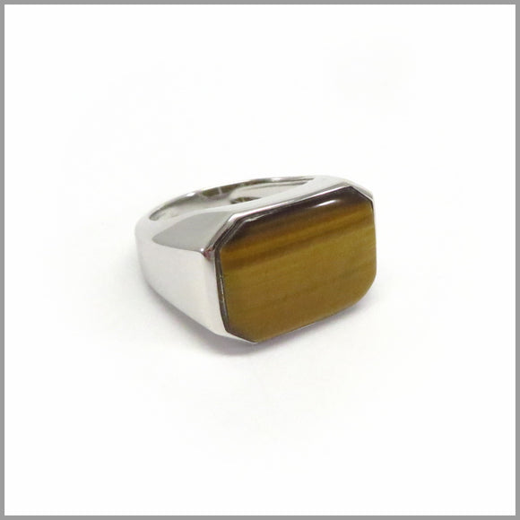 HG22.40 Tiger's Eye Silver Ring