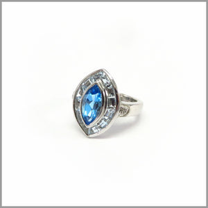 HG23.20 Marquise Blue Topaz Ring