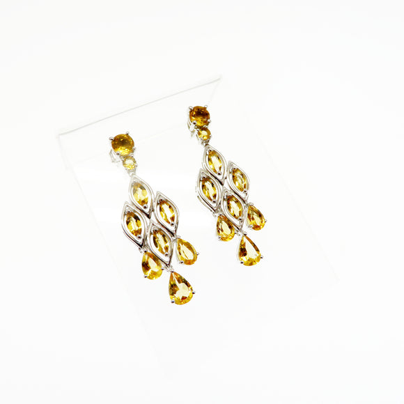 HG26.28 Citrine Chandelier Earrings