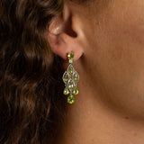 HG26.31 Peridot Chandelier Earrings