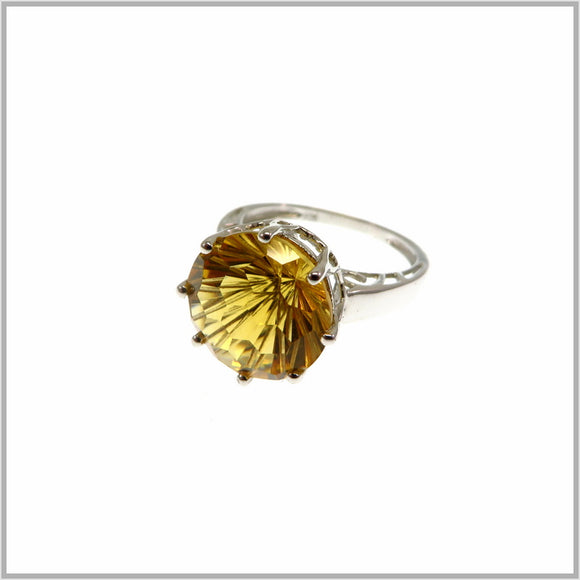 HG26.8 Citrine Protea Ring