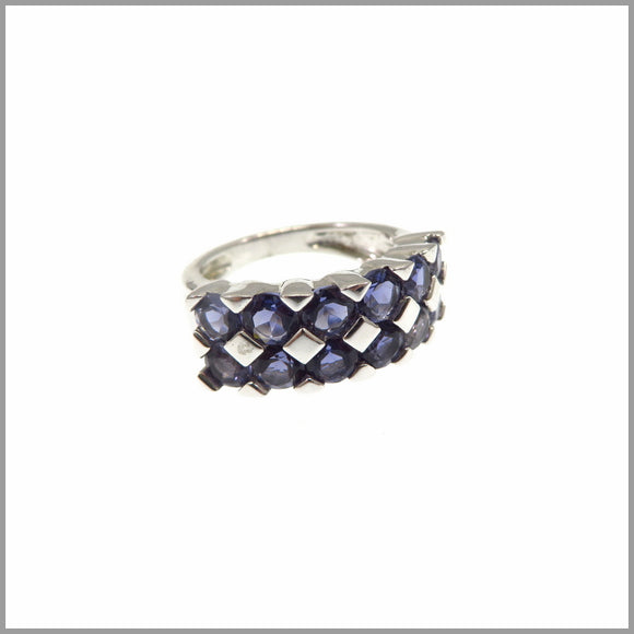 HG27.45 Checkered Iolite Ring