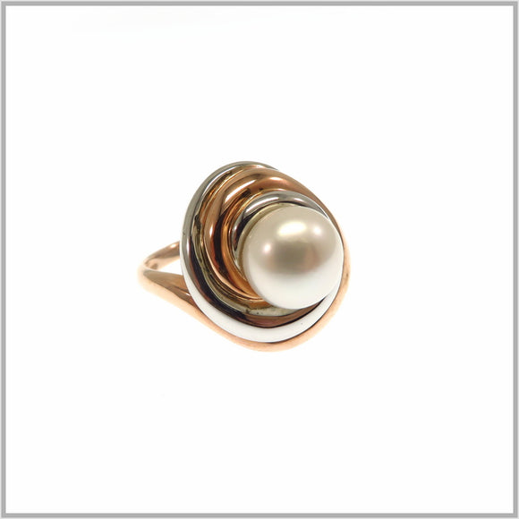 HG28.202 Fresh Water Pearl Rose Ring