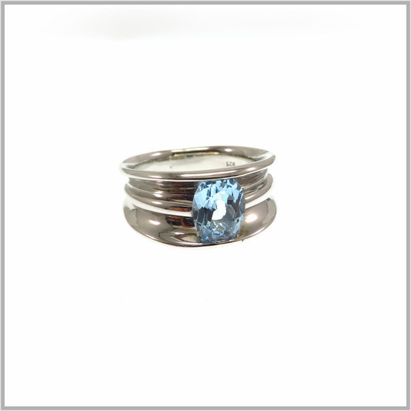 HG28.29 Blue Topaz Ring
