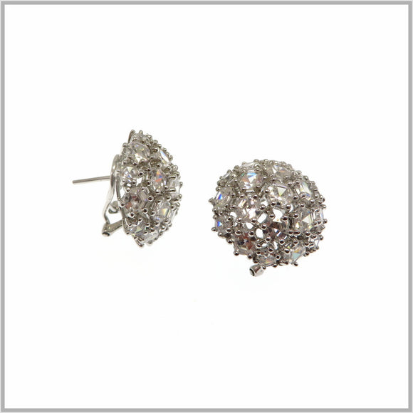 HG28.66 Cubic Zirconia Star Cluster Earrings