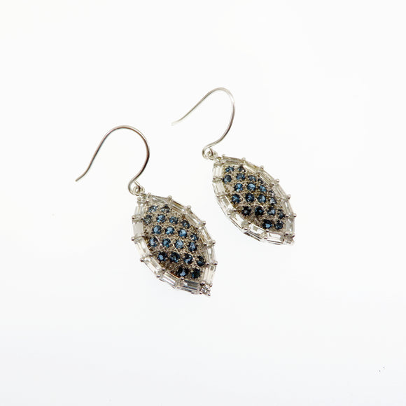 HG26.93 London Blue & White Topaz Earrings