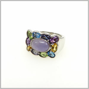 HG29.100 Rainbow Gemstone Ring
