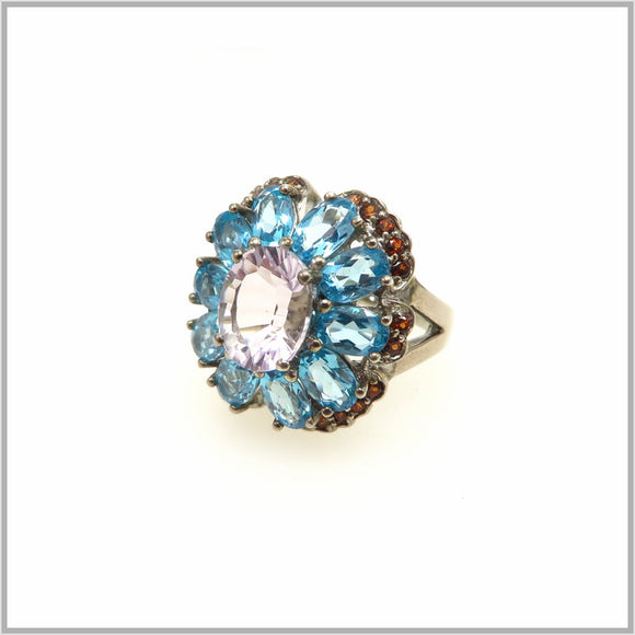 HG29.104 Apatite & Rose Amethyst Ring