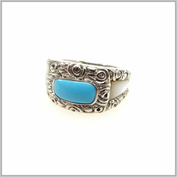 HG29.115 Vintage Turquoise Ring