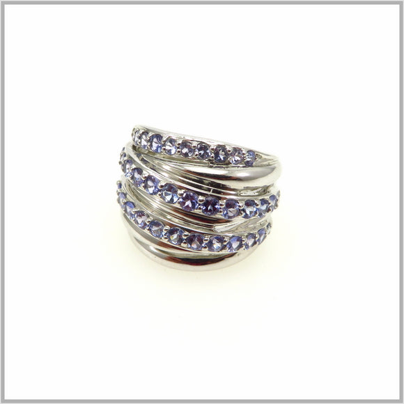 HG29.119 Tanzanite Stack Ring
