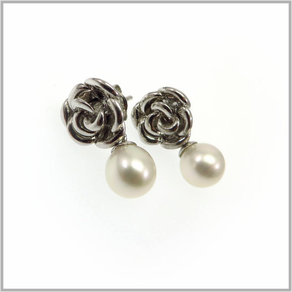 HG29.277 Pearl Rose Earrings
