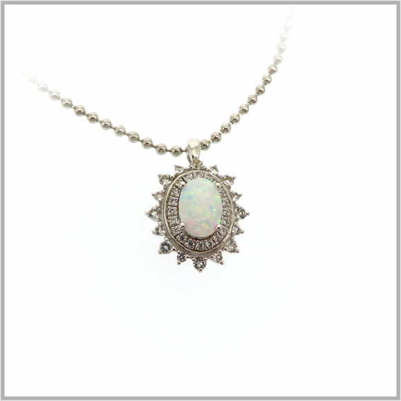 HG29.295 Regal Opal & White Topaz Pendant