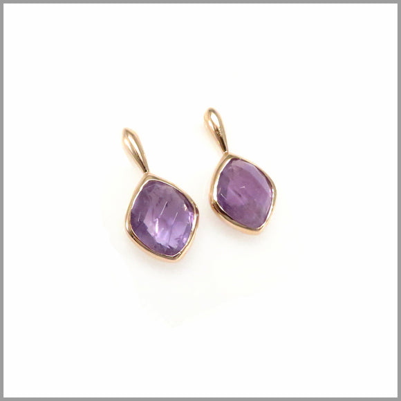 LG20.46.1 Amethyst Drop Gold Plated Earrings