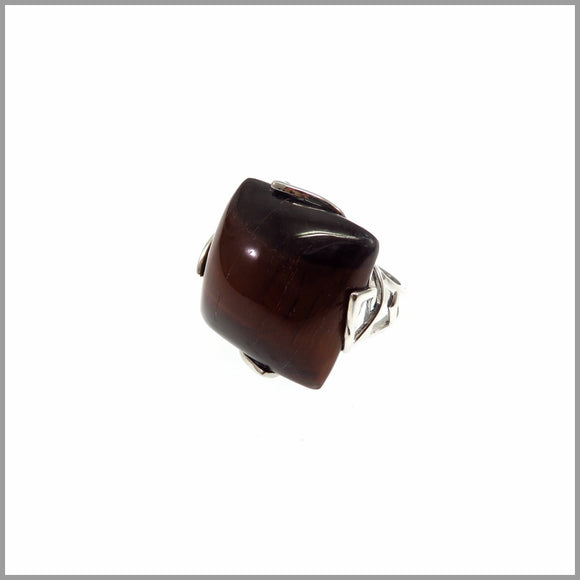 LG21.12 Red Tigers Eye Ring