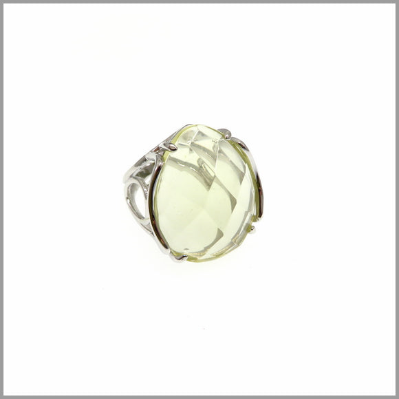 LG21.3 Lemon Quartz Silver Ring