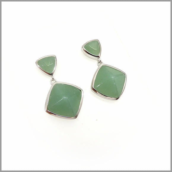 LG21.47 Aventurine Drop Earrings