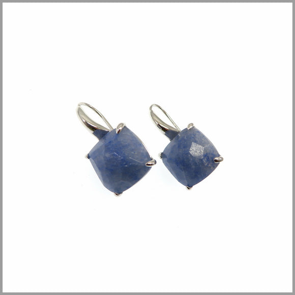 LG21.54 Blue Quartz Drop Earrings