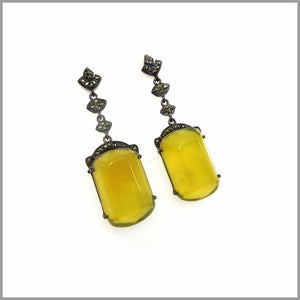 LG21.61 Baroque Yellow Opal Earrings