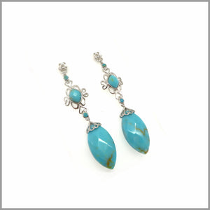 LG21.65 Vintage Turquoise Earrings