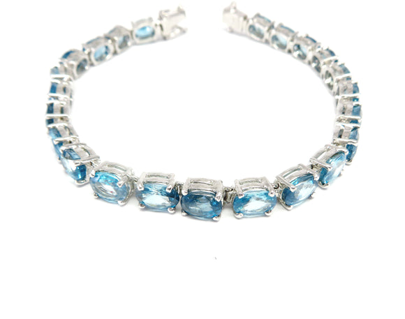 MPG1.15 Elegant Blue Topaz Necklace