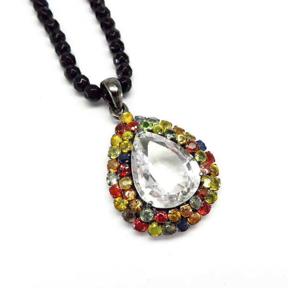 MPG2.1 Rock Crystal & Tourmaline Pendant