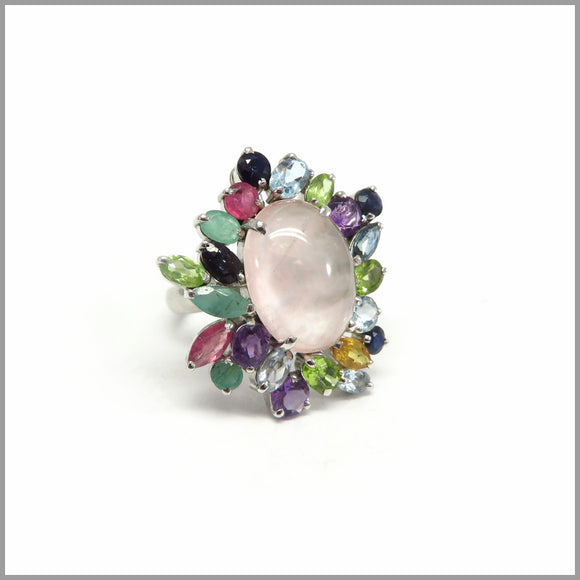 MPG1.2 Pink Peacock Gemstone Ring